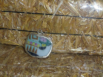 Multicolor Chinese broken porcelain pottery shard jewelry making bead S557