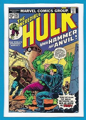 INCREDIBLE HULK #182_DEC 1974_FINE+_2nd FULL APPEARANCE OF WOLVERINE_BRONZE AGE!