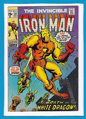 "Invincible Iron Man #39_July 1971_Very Fine Minus_""wrath Of The White Dragon""!"