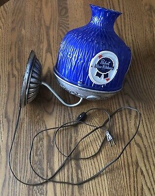 Vintage Pabst Blue Ribbon Beer Lamp Shade Lighted Wall Mounted Bar Light
