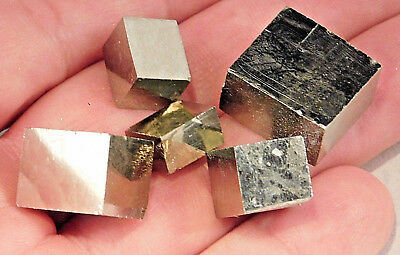 A Lot of Small 100% Natural AAA Graduated PYRITE Crystal Cubes! Spain 48.5gr e
