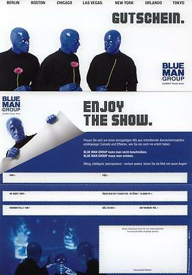 BLUE MAN GROUP Blanko-Gutschein MUSICAL Berlin STAGE Musicalgutschein
