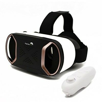 VR Headset with Wireless Remote Virtual Reality Headset Goggles For Smartphone