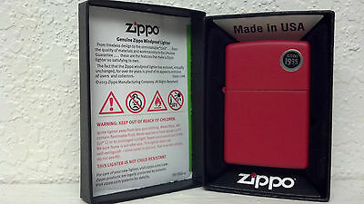 Zippo, Lighter, Regular Red, Matte Finish, Model# 233