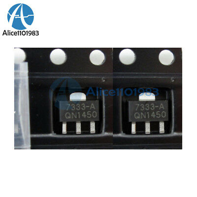 100PCS HT7333-A HT7333 3.3V SOT-89 Low Power Consumption LDO Voltage Regulator