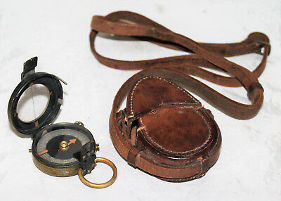 WW I Verner's Pattern Mk. VIII Military Prismatic Compass French & Son UK 1917