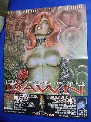 Rare! ~Linsner~ Dawn The Fall Of The Goddess & Gary Numan Promo Poster ~2001