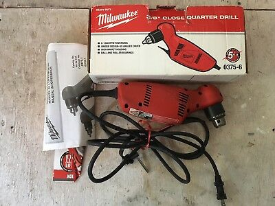 "Milwaukee 0375-1 Close Quarter 3/8"" Heavy-Duty Right Angle Drill!"