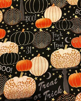BOUFFANT STYLE SURGICAL Scrub Hat, HALLOWEEN PUMPKINS AND WORDS