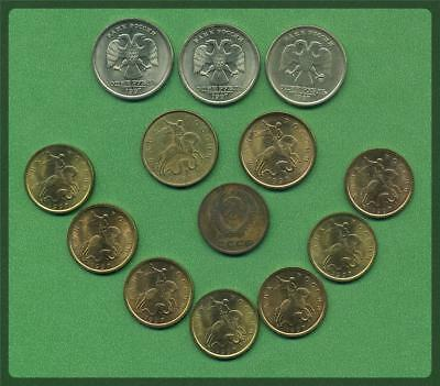 RUSSIA  - Small Collection of Coins, including 1961 2 Kopeck.