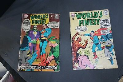 Worlds Finest Vol 1 lot 144, 178 Superman Batman Green Arrow Brainiac Not CGC