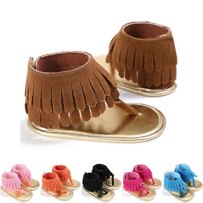 Prewalker Kid Crib Baby Summer Shoes Casual Flip Boy Sole Newborn Tassel Girl
