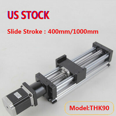 Ball Screw Linear CNC Slide Stroke 400/1000mm Long Stage Actuator Stepper Motor