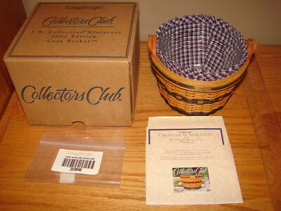Longaberger 2002 Collector Club Miniature Corn Basket Combo
