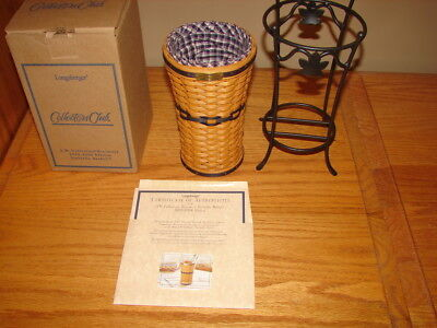 Longaberger 2003-2004 Collectors Club Miniature Umbrella Basket Combo + Stand