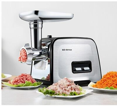US 220V 400W Commercial Grade Electric Meat Grinder Stainless Steel Heavy Duty