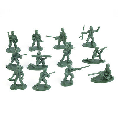 100pcs/Pack Military Plastic Toy Soldiers Army Men Figures 12 Poses Gift OE