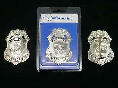 PB201 Security Officer Badge. Silver Color Real Deal. Heavy Duty! FREE Shipping!