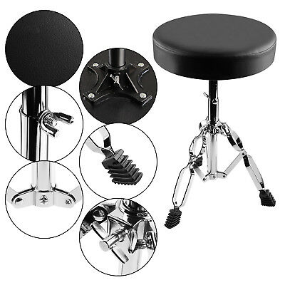 Drum Throne Padded Seat Drummers Stool Stand Chair Percussion Hardware Accessory