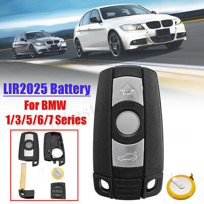 3 Buttons Remote Key Fob w/ LIR2025 Battery Kit For BMW 1 3 5 6 7 Series E90 E92