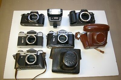 Vintage Camera Joblot Chinon, Minolta, Zenit, Prinzflex and Zeiss Icon