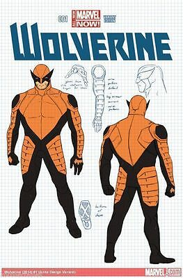 Wolverine #1 Design Variant Marvel Now Near Mint First Print Bagged And Boarded