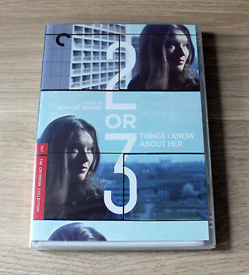Criterion Collection #482 2 Or 3 Things I Know About Her JL Godard R1 DVD NEW