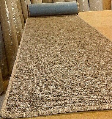 WHIPPED BUDGET FEATURE STAIR CARPET RUNNER 66cm x 8 metres  FELT BACK LOOP PILE