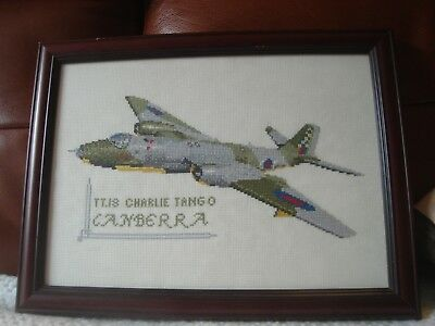 Hand Stitched Canberra Jet Tapestry Picture 1 of 1