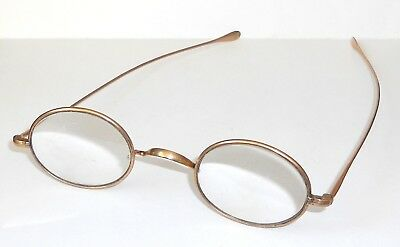Victorian 1850-1900 Oval Frame Gold Plated Spectacles (With Lenses)