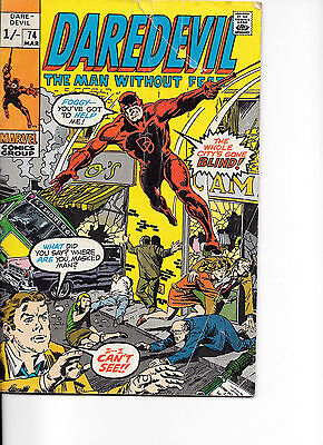 Daredevil  -   The Man Without Fear  March 1974