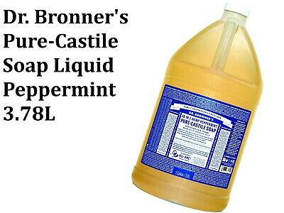 DR BRONNERS Pure Castile Liquid Soap - Hemp Peppermint 3.78L ( Bronner's )
