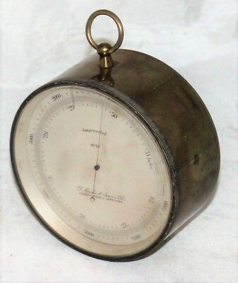 Surveyor's Barometer Altimeter by T. Cooke & Sons, London York Cape Town