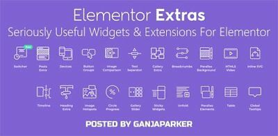 Elementor Extras - Seriously Useful Widgets & Extensions For Elementor
