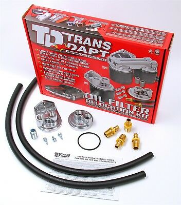 Trans-Dapt Performance Products 1113 Single Oil Filter Relocation Kit