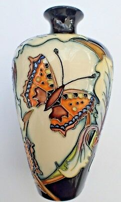 MOORCROFT tube lined Butterfly Vase 1st Boxed