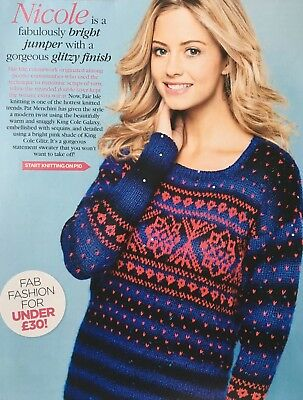 Knitting Pattern Ladies Fair Isle Jumper Christmas Snowflake Sweater