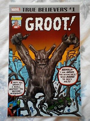 True Believers Groot 1, Tales to Astonish 13, Journey into Mystery 62, Kirby art