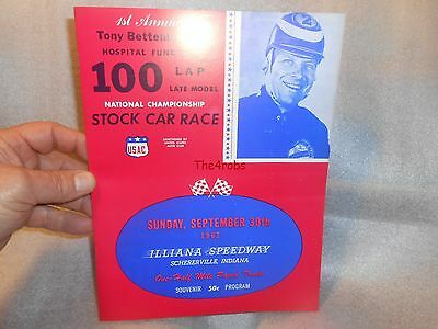 Original 1962 Illiana Speedway Souvenir Program
