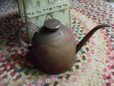 Primitive Vintage Eagle Oil Can With Shabby Copper Finish