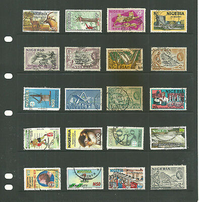 Commonwealth Nigeria    Africa 10 stock sheet   large collection stamps
