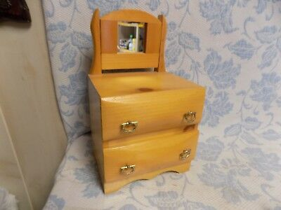 Vtg Miniature Antique Look  Drawer Dresser Jewelry Box or Doll Furniture