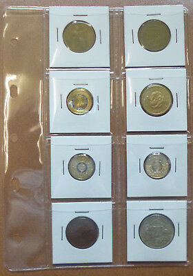 Small VST COIN STOCK ALBUM PAGES 8 POCKET for 2 x 2 COIN HOLDERS - Pack of 5