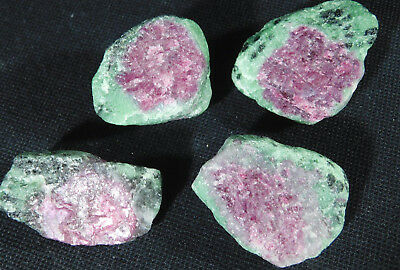 A Big Lot of 100% Natural Red RUBY Crystals With Zoisite! From Tanzania 109gr e