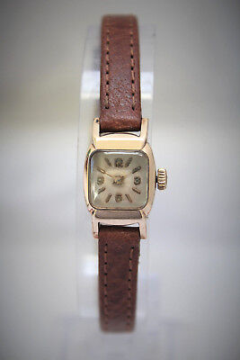 Solid Rose Gold Ladies Art Deco Vintage Bwc-London Watch - Lovely! - No Reserve!