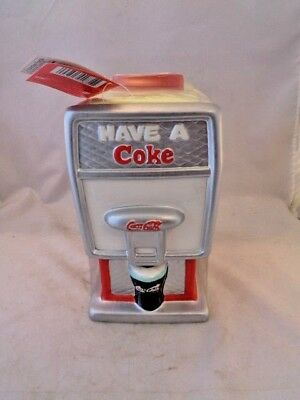 Coca Cola Ceramic Fountain Cookie Jar New With Tags