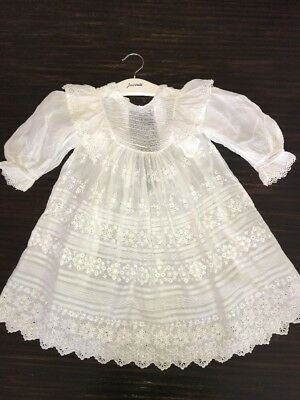 Beautiful Antique 1800's Lace Victorian Baby Doll Sunday Dress