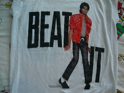 Vintage MICHAEL JACKSON Beat It 1984 Concert Tour 80's Sleeveless T Shirt XS