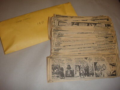 300+ 1981 Star Wars Comic Strips By Many Cartoonists Cut From Newspaper