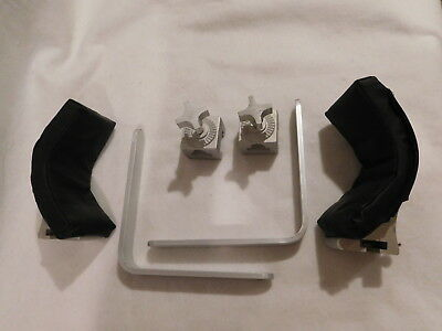 """New Aluminum Surgical OT Table Shoulder Support Assembly w/1"""" Profex Pads"""